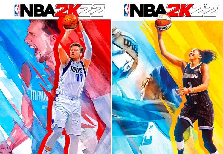 Candace Parker, Luka Doncic y Kareem Abdul-Jabbar en la portada de NBA 2K22 DEST