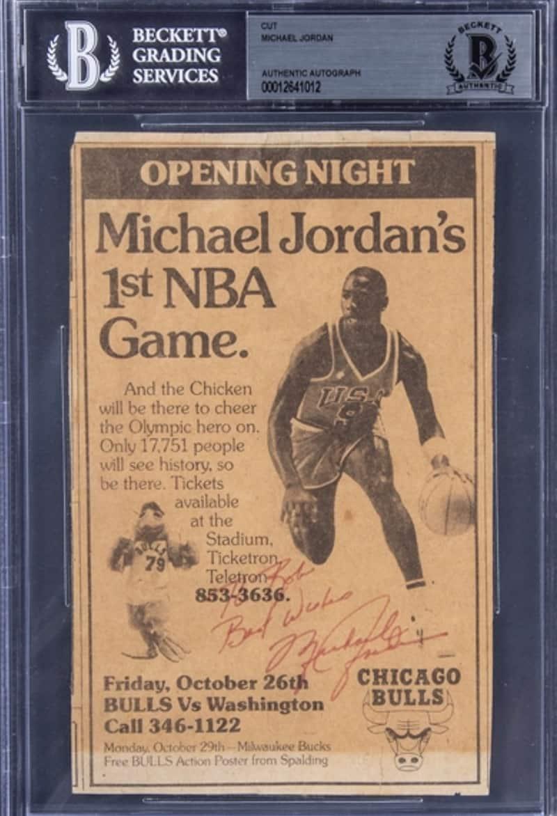 Subastas millonarias para obtener objetos de Michael Jordan y LeBron James JORDAN2