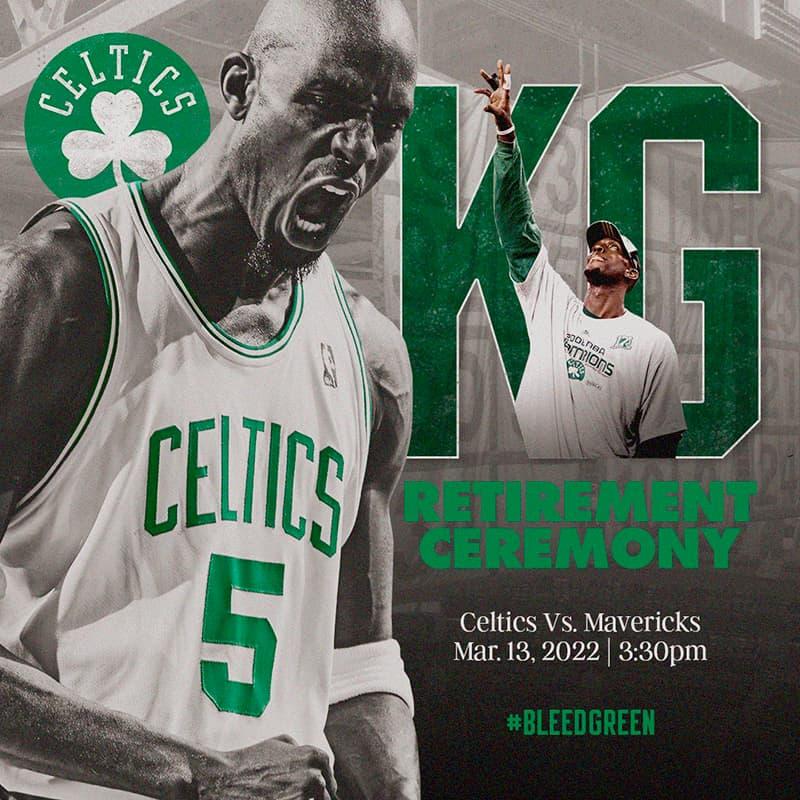Los Celtics ponen fecha para el retiro del jersey de Kevin Garnett 1