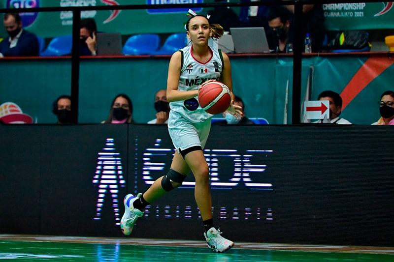 La mexicana Loriette Maciel en el Equipo Ideal del FIBA Américas U16 1
