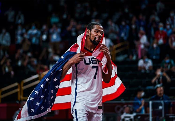 Kevin Durant medalla de oro y contrato millonario con los Nets