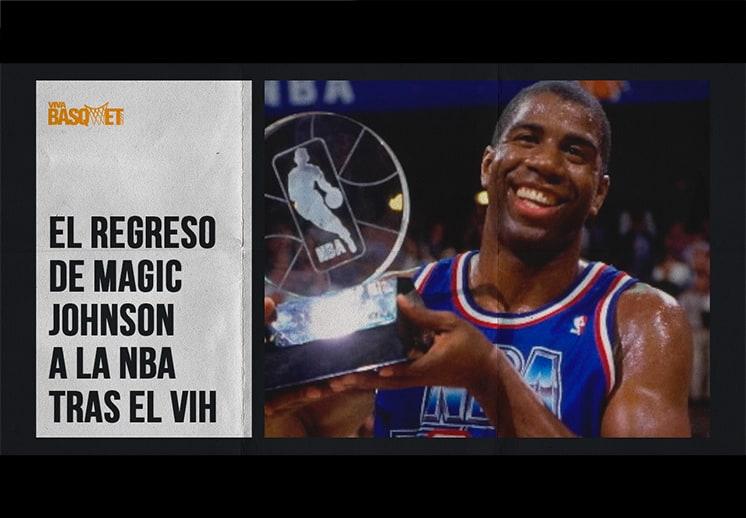 El regreso de Magic Johnson a la NBA tras el VIH