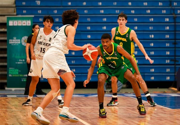 Brasil arruinó el debut de México en el FIBA Américas U16