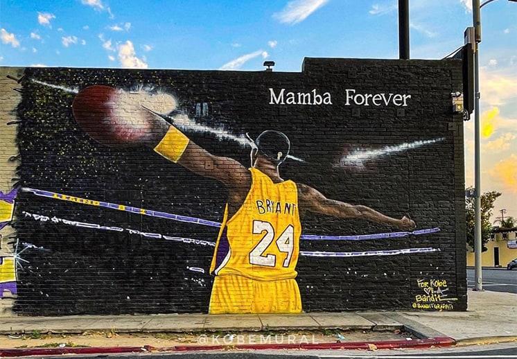 Aumentan los murales en honor a Kobe Bryant