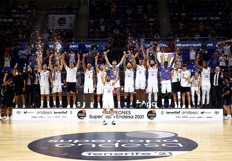 Real Madrid se lleva el primer título, campeón de la Supercopa Endesa DEST
