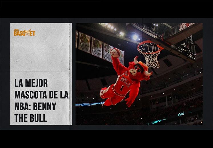 La mejor mascota de la NBA: Benny The Bull