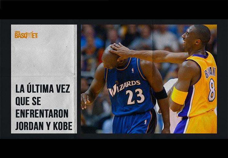 La última vez que se enfrentaron Jordan y Kobe