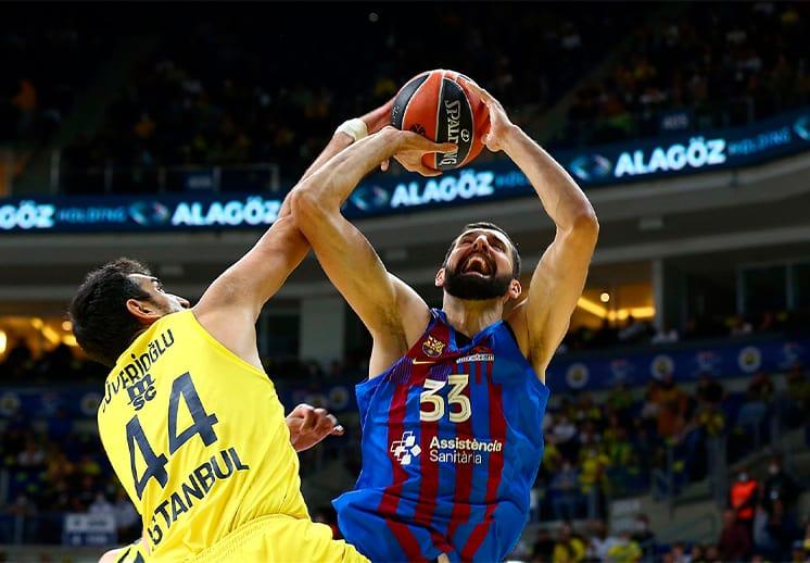 La milagrosa canasta de Nikola Mirotic en la victoria del Barcelona en la Euroleague