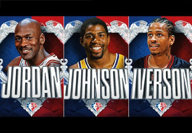 Jordan, Magic, Bird, Iverson y más figuras se unen al Equipo del 75 Aniversario de la NBA DEST
