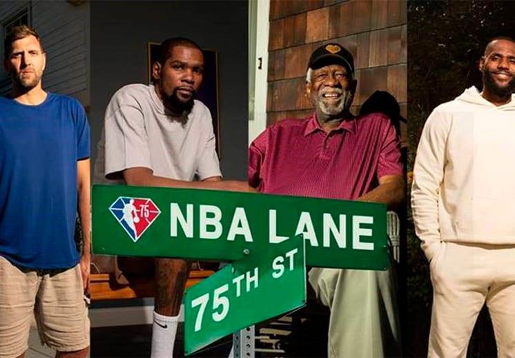 Llegó el estreno de NBA Lane, el corto que celebra los 75 años de la NBA