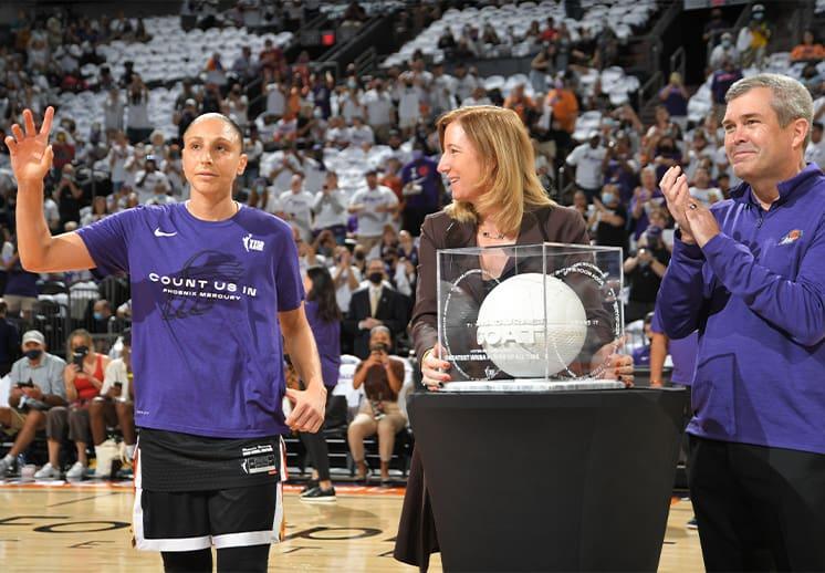 Diana Taurasi elegida como la más grande de la historia en la WNBA